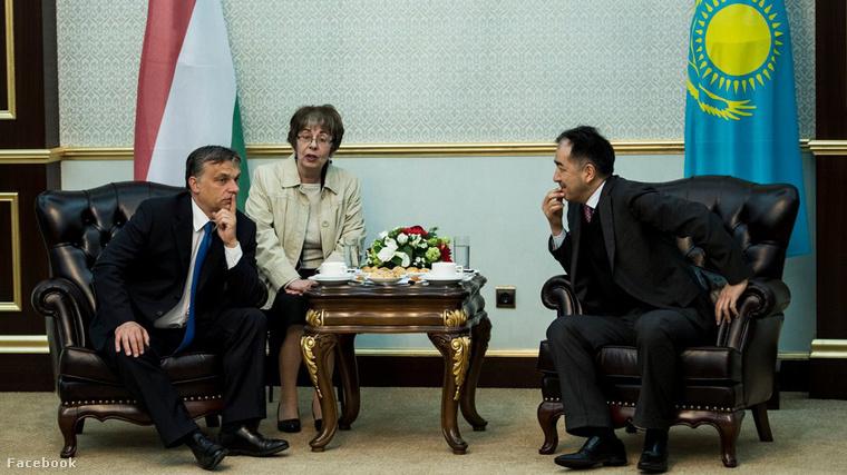 Orbán Viktor és Karim Maszimov Asztanában