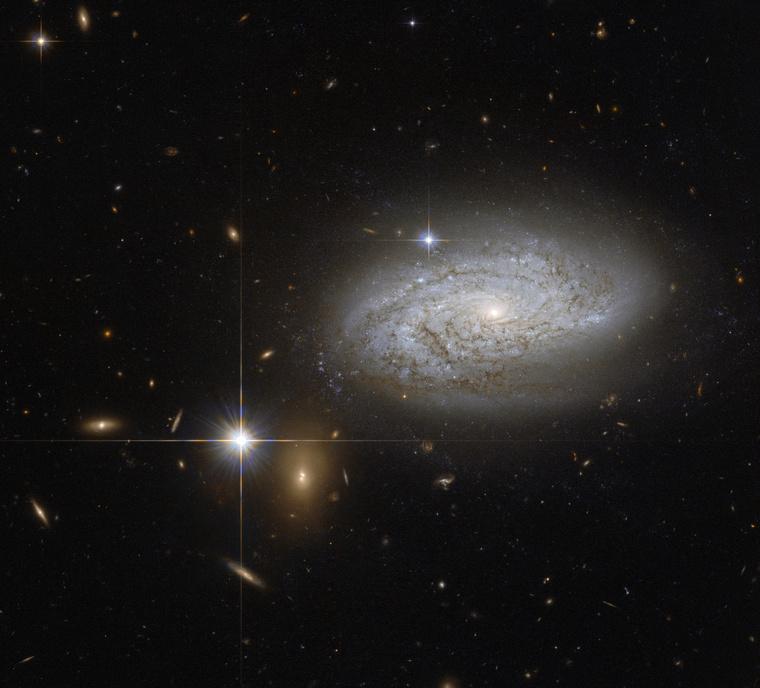 A Hubble március 30-i felvétele azNGC 3021 galaxishalmazról