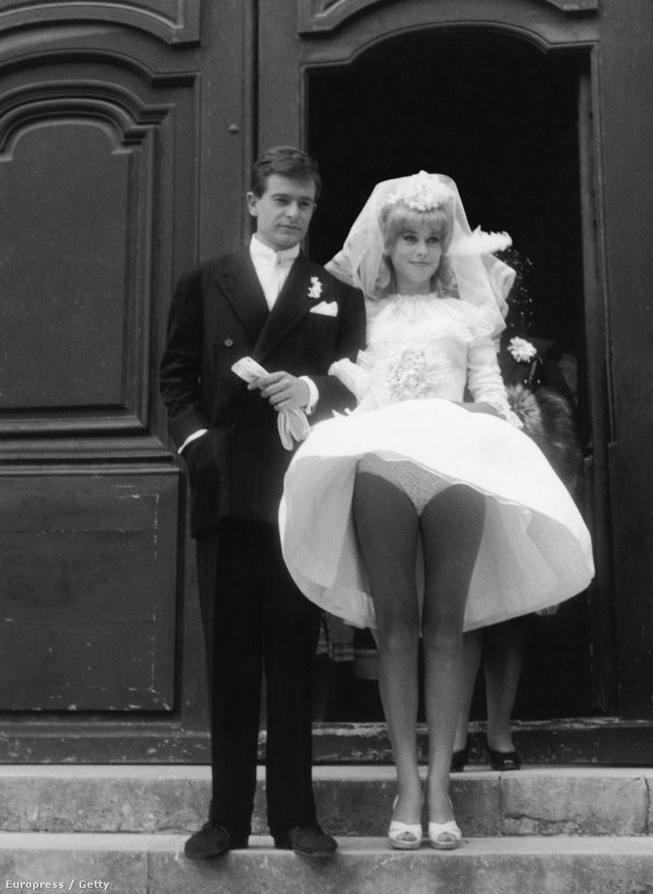 1963-ben Catherine Deneuve-öt egy filmforgatásoon szívatta meg a szél