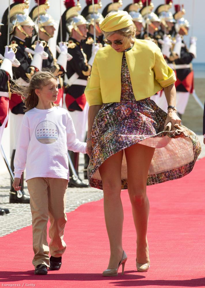 A holland Maxima hercegné és a szél, szintén 2014-ben