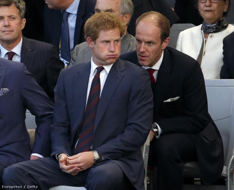 Harry herceg és személyi titkára, Edward Lane Fox, aki 36 évesen, 2013-ban került erre a posztra