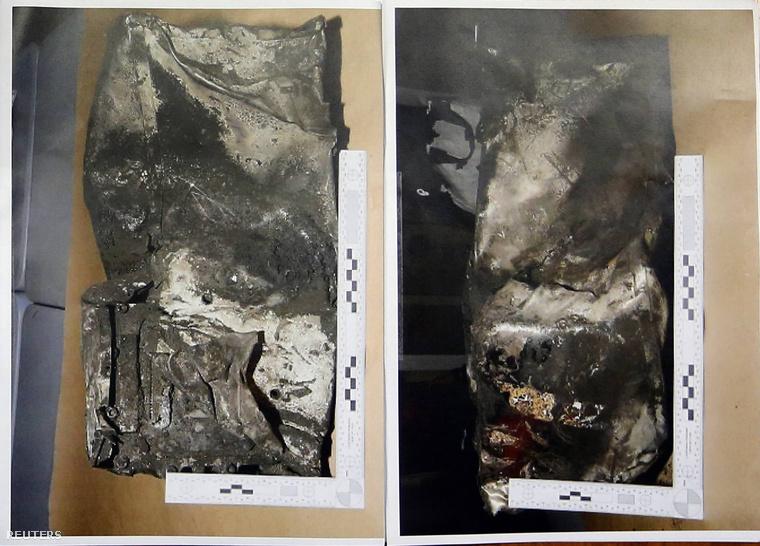 Fotó az összesroncsolódott második fekete dobozról