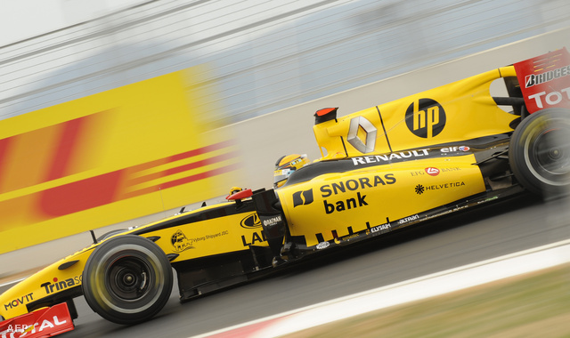 Robert Kubica 2010-es Renault-ja