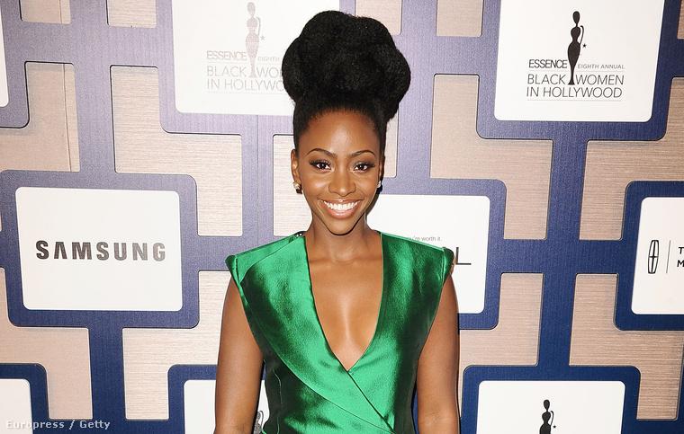 Teyonah Parris a fekete nők hollywoodi helyzetével foglalkozó eseményen februárban