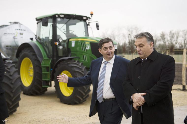 Mészáros Lőrinc (Fidesz-KDNP) felcsúti polgármester és Orbán Viktor miniszterelnök