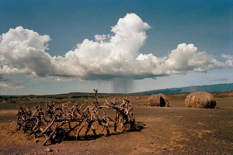 Zápor   Rain, Turkana, Africa, 1985                               giclée print, 2015                               57 x 38 cm