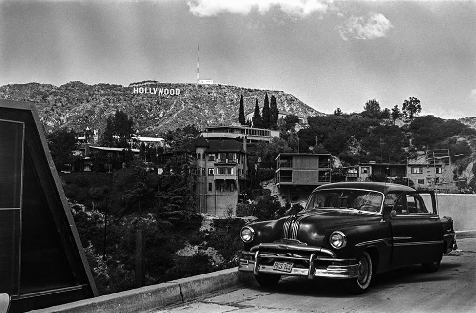 Hollywood, Los Angeles, USA, 1965                               zselatinos ezüst nagyítás   gelatin silver print, 2015                               57,5 x 37,5 cm