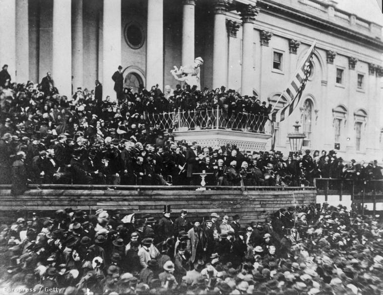 Lincoln második beiktatása Washingtonban, 1865. március 4-én
