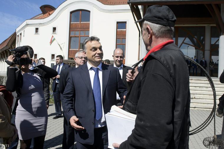Orbán Viktor Egerben.
