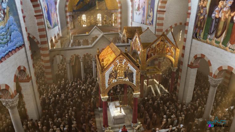 A székesfehérvári Nagyboldogasszony-bazilika - csak az alapjai maradtak meg