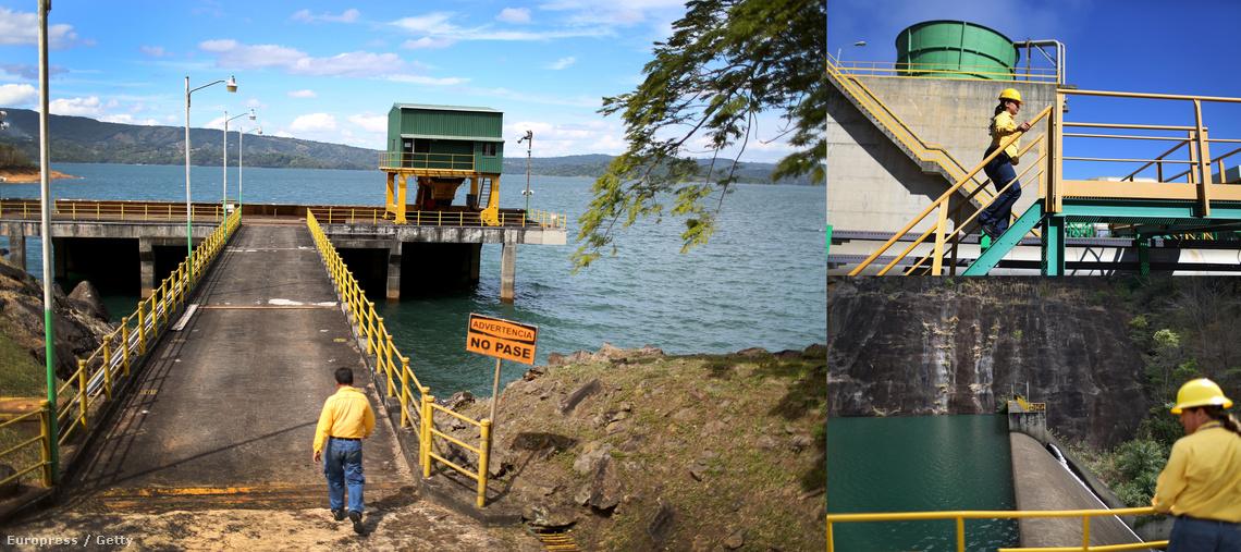 Costa Rica egyik part menti vízerőműve
