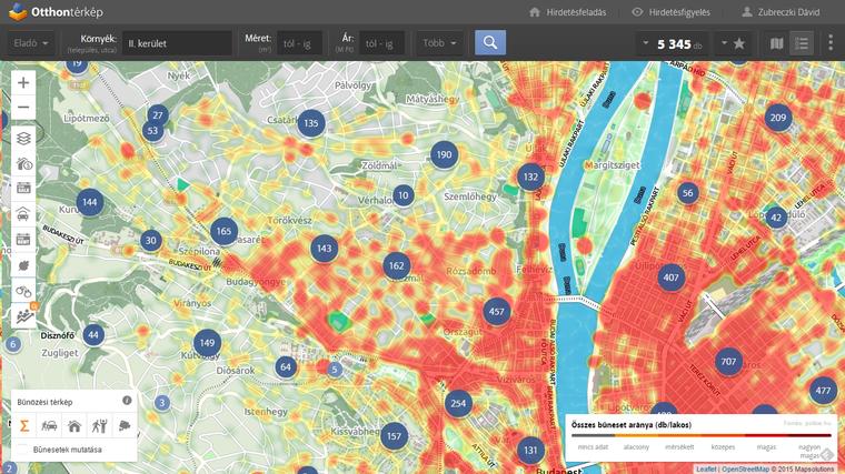 A környék bűnözési statisztikái. Utcaszintű adatokért kattintsatok a térképre!
