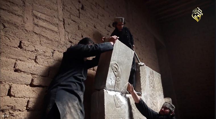 Ókori műemlékeket rombolnak az Iszlám Állam fegyveresei egy nemrég kiadott videón