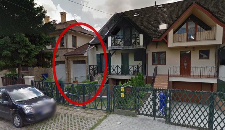 A Google Mapsen látható a garázs, aminek nincs nyoma a hivatalos papírokban