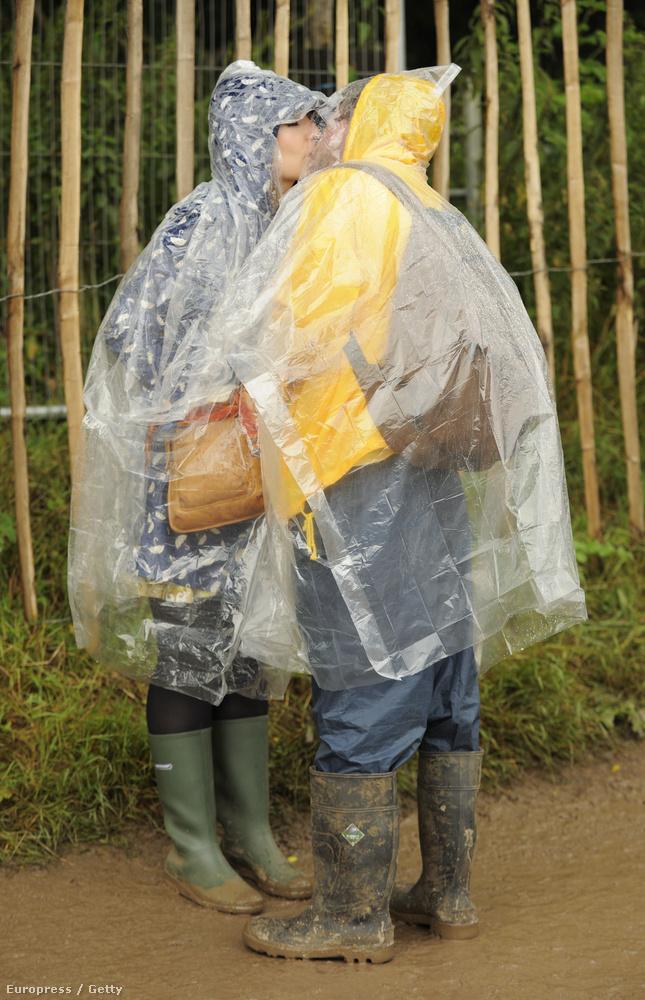 2009-ben elég esős idő volt a Glasonbury fesztiválon