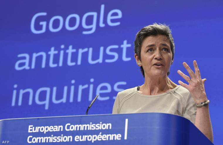 Margrethe Vestager a versenypolitikáért felelős uniós biztos.