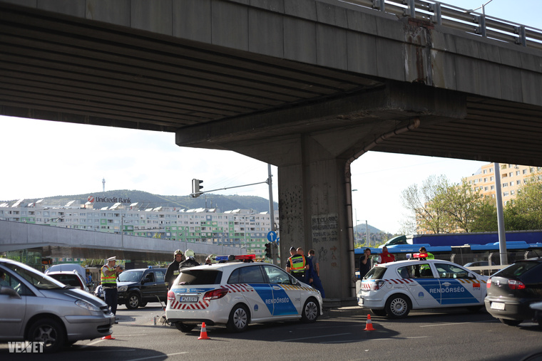 Rendőrök és tűzoltók végezték a mentést.
