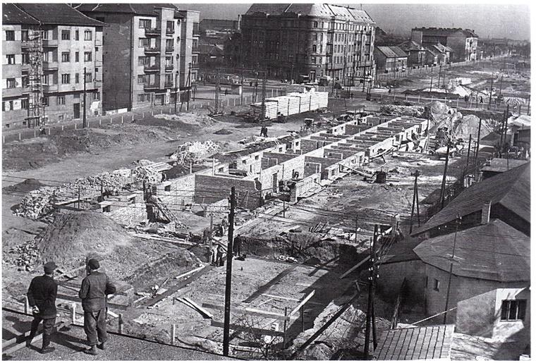 Róna utcai lakótelep építése