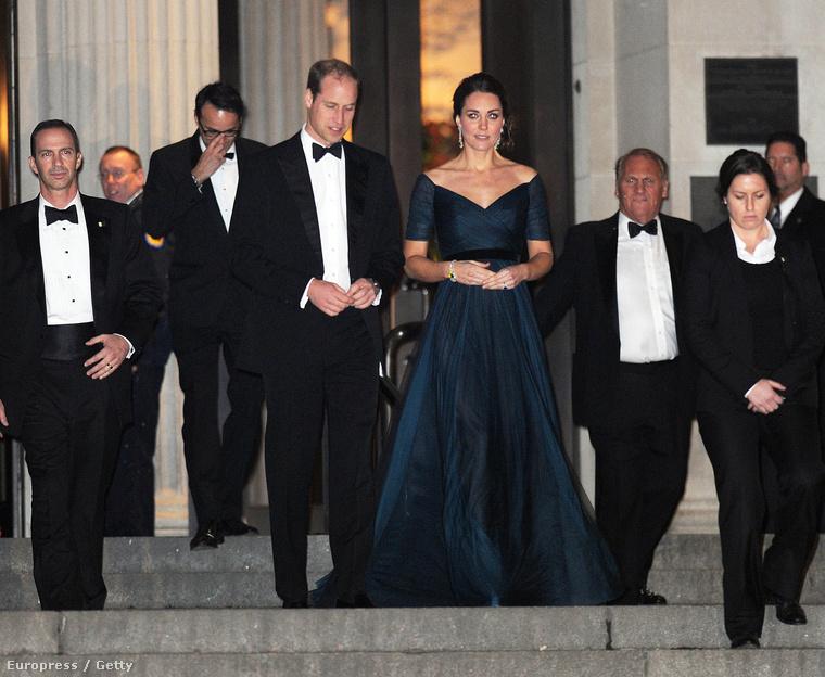 Katalin hercegné Vilmos herceg oldalán New Yorkban 2014. december 9-én