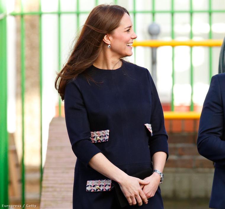 Katalin hercegné 2015. január 15-én egy gyereklétesítmény megnyitóján
