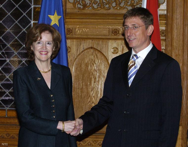 April Foley és Gyurcsány Ferenc 2006-ban