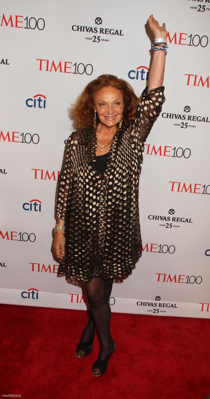 Diane von FrustenbergA divattervező nagyjából az összes képen ennyire boldog