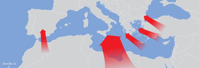 Ezek a legnépszerűbb földközi-tengeri csempészútvonalak és úti célok
