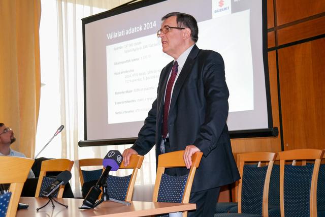 Dr. Urbán László, a Suzuki vezérigazgató-helyettese