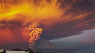 Fantasztikus képek a chilei vulkán kitöréséről