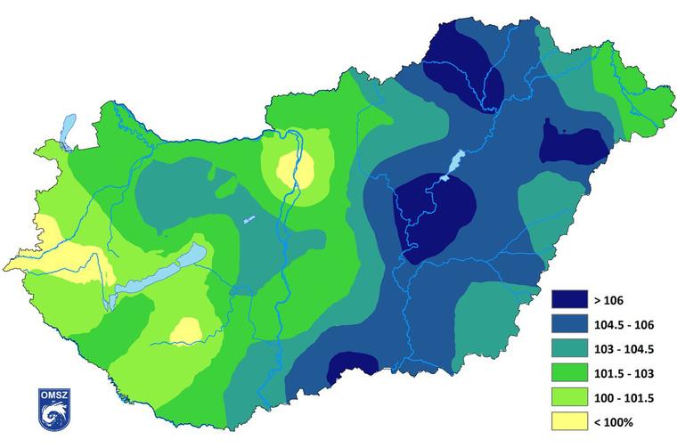 eső térkép magyarország Index   Tudomány   Íme, ezt csinálta Magyarországgal tíz év alatt  eső térkép magyarország