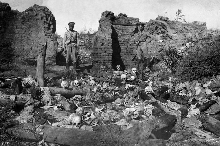 Örmény falu (Sheyxalan) a Kaukázban, 1915.