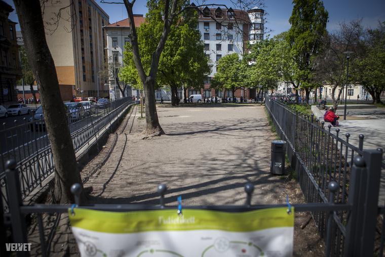 A Kálvária téri kutyafuttató elég lehangolóan néz ki, kicsi, kopár - se fű, se kavics, se játékok, de még árnyék is alig van
