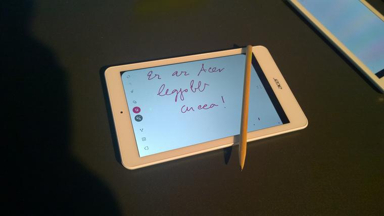 Ceruzával rajzolhatunk az Iconia One 8-ra