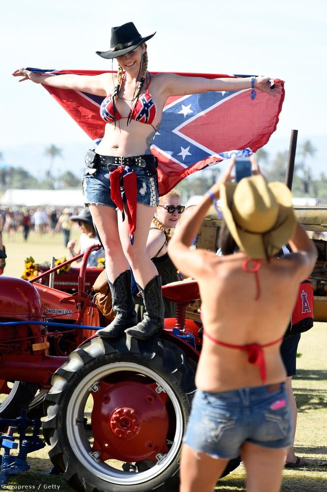 A jó öreg konföderációs zászló is előkerül