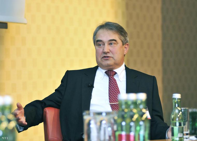 Töröcskei István az Államadósság Kezelő Központ Zrt. (ÁKK) vezérigazgatója az Euromoney konferencián 2013. január 15-én a bécsi Hilton szállodában.