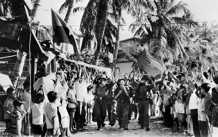 Vietkong katonák Camranhban