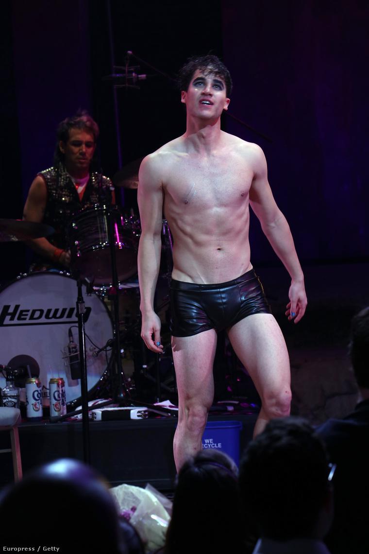 Darren Criss Hedwig szerepében a Broadway-en