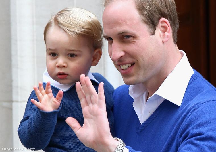 Mielőtt még bemutatták volna a tömegnek a hercegnőt, György herceg is meglátogatta a húgát