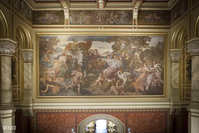 Az első, hivatalos megrendelésre kifestett pesti középület