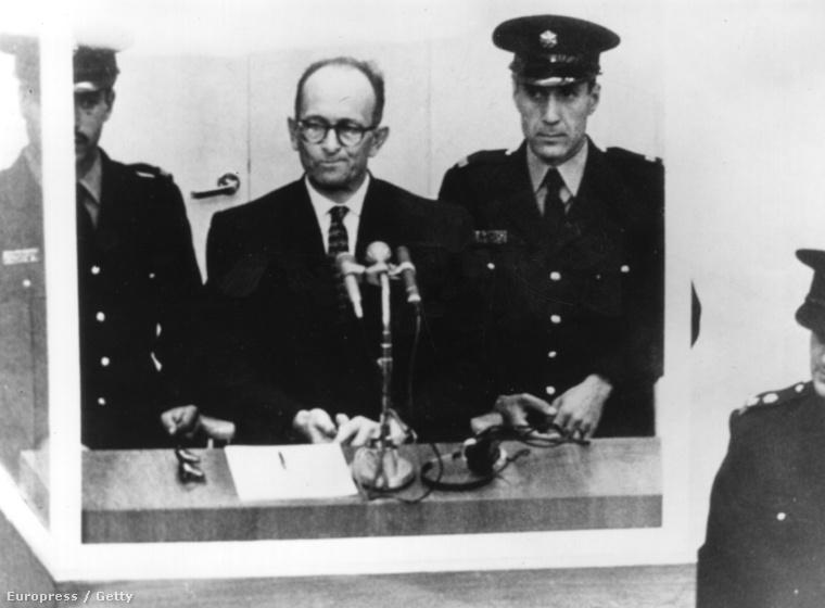 Adolf Eichmann a jeruzsálemi bíróságon 1961-ben