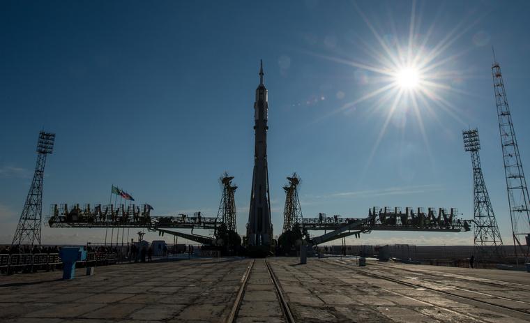 Szojuz-TMA-16M típusú űrhajó 2015. március 25-én a Bajkonurban.
