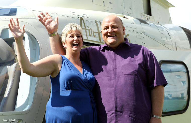 Adrian Bayford és felesége, amikor nyertek – azóta már elváltak