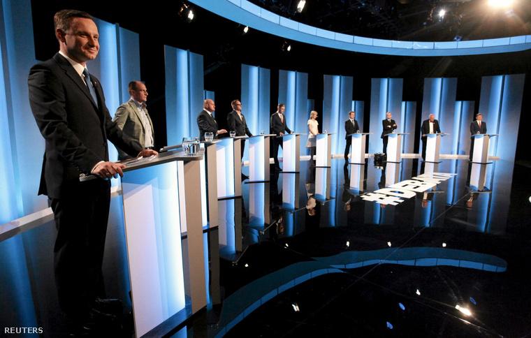 Elnökjelöltek tv-s vitája a Lengyel közszolgálati televízióban