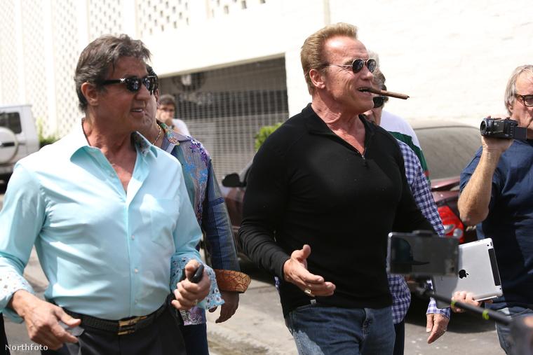 Arnold Schwarzenegger és Sylvester Stallone, meg még pár barátjuk együtt ebédeltek Beverly Hillsben, aminél nehéz sokkal csodálatosabb dolgot kitalálni