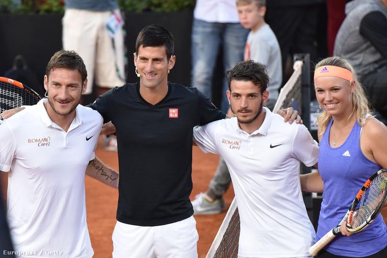Francesco Totti, Novak Djokovic, Alessandro Florenzi és Caroline Wozniacki