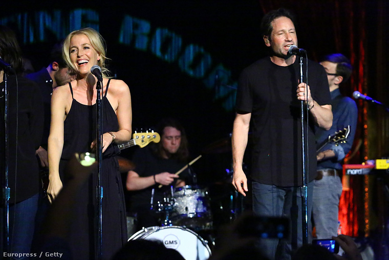 Szóval az úgy volt, hogy David Duchovny koncertet adott New Yorkban, ahol vendégként fellépett Gillian Anderson is