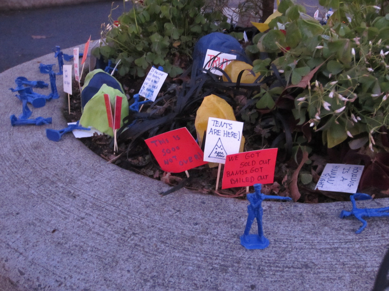 Occupy Mill Ends Park in Portland, OR