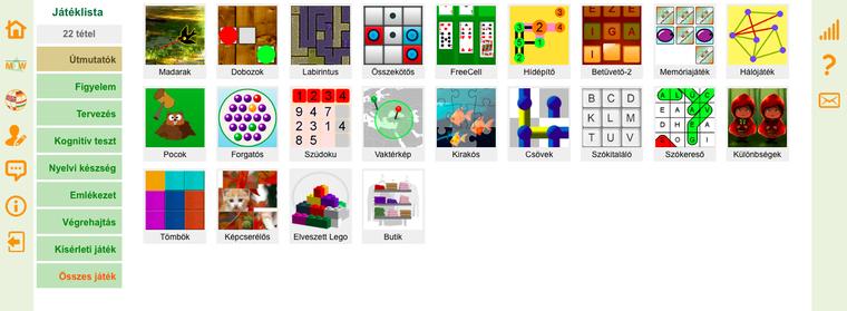 22 játékot fejlesztettek eddig a kutatáshoz.