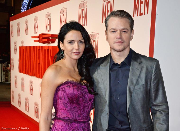 Matt Damon is egy felszolgálónőt vett feleségül, Luciana Barroso pultos volt egy bárban