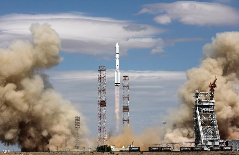 A rakétát Kazahsztánból, a bajkonuri űrközpontból indították útnak.
